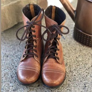 STEVE MADDEN Troopa Leather Kombat Boots 6M